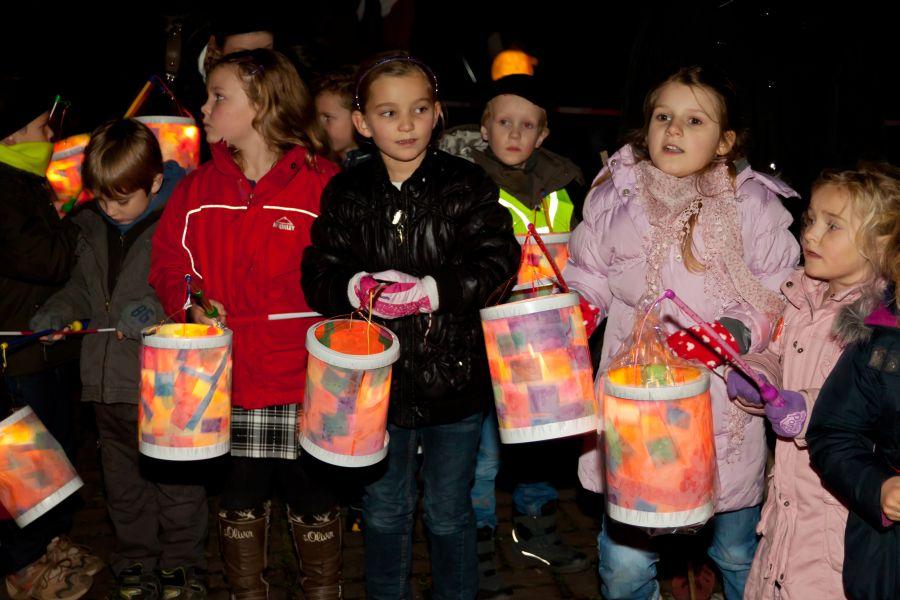 St. Martinsfest in Sonsbeck, Niederrhein am 12. November 2011